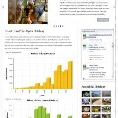Horn Point Oyster Hatchery Web Design, Database Design and Management System